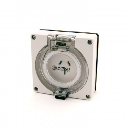 15A M-Tech Single Phase Socket Outlet