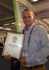 Darren with Award Certificate