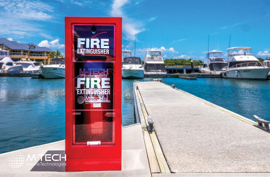 RED STANDARD ALUMINUM FIRE EXTINGUISHER CABINET